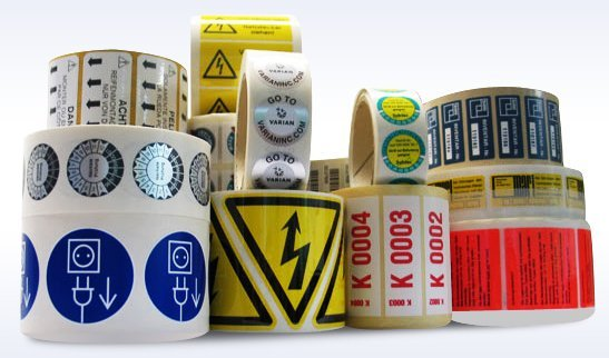 Image labels… Photo: http://www.premierpaper.com/shop/custom-labels/